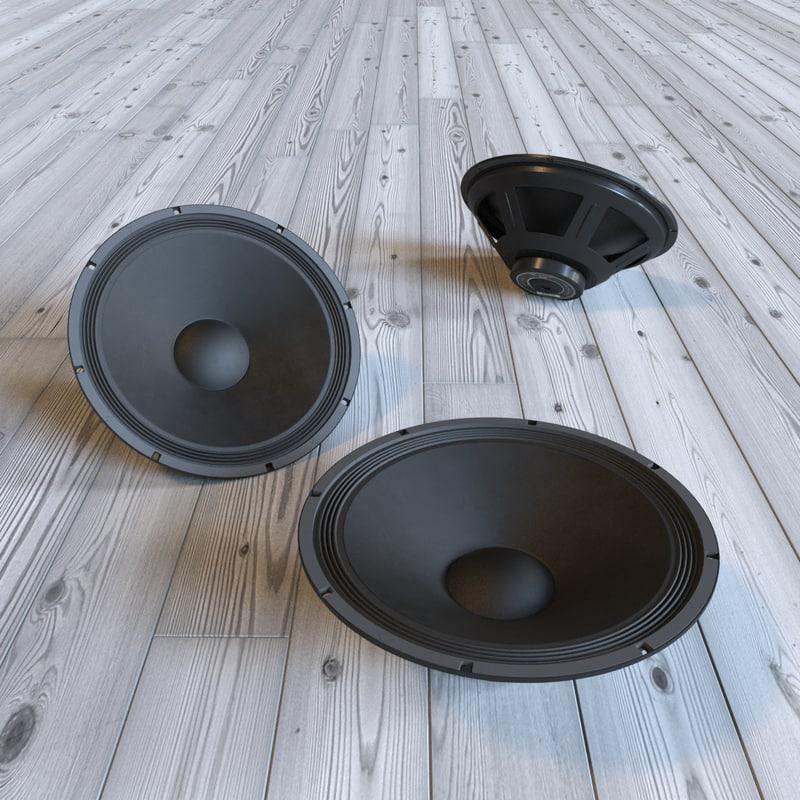 3d model eminence alpha-15a speaker