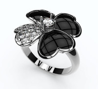 3d clover ring