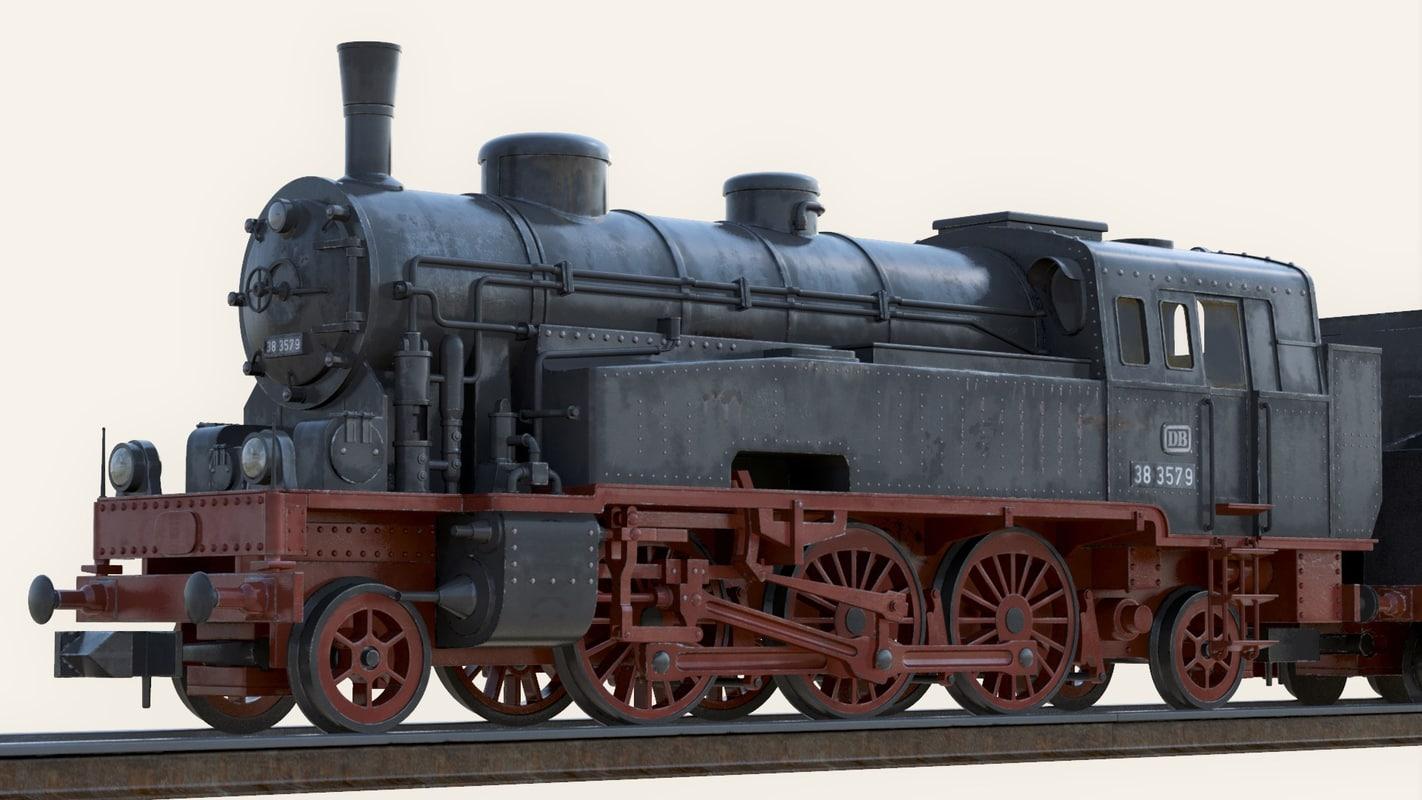 steam locomotive obj
