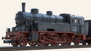steam locomotive obj