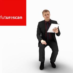 3d model man businessman