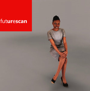 3d woman female human model