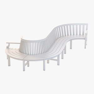 3d curved stylish outdoor model