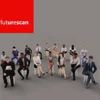 3d scans people archviz model