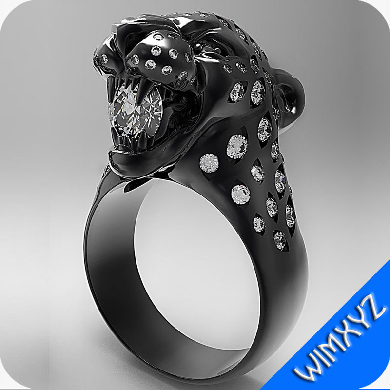 panther bared ring 3d obj