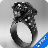 ring PANTHER With bared