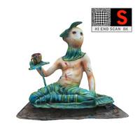 psychedelic sculpture lunapark 8k obj