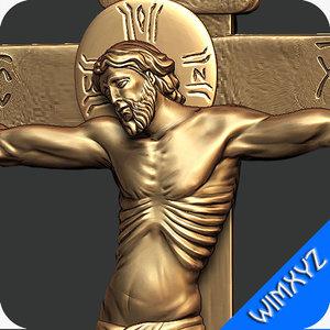 3d jesus cross jewelry model