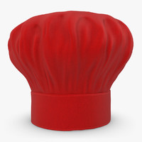 3d model realistic chef hat 04