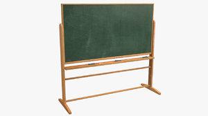 3d chalkboard school