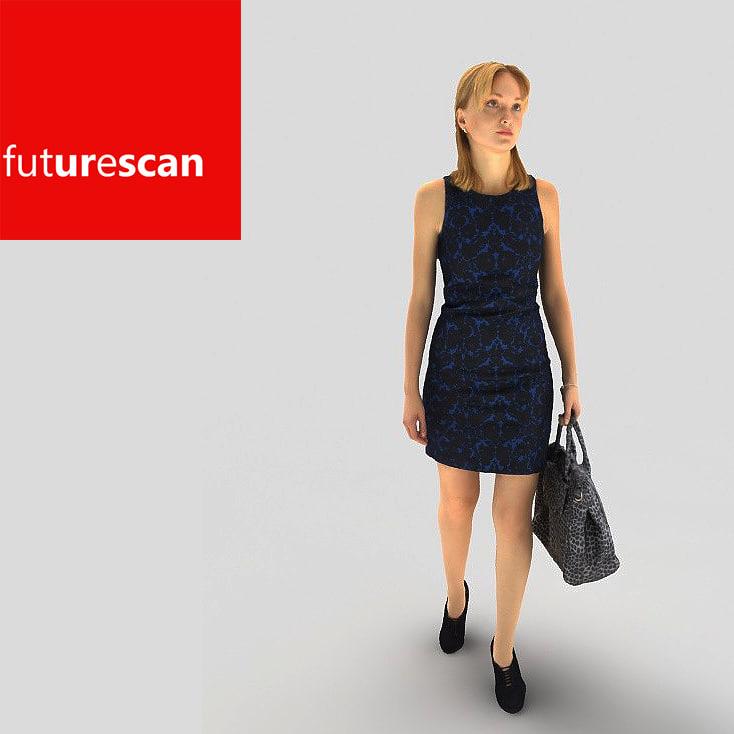 woman business 3d model