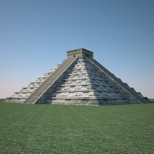 3d model chichen itza