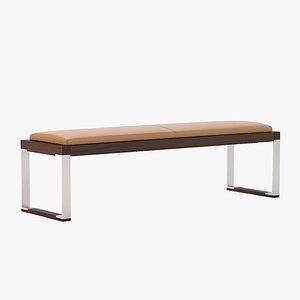slim pax bench 3d max