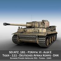 3d sd panzerkampfwagen vi - model