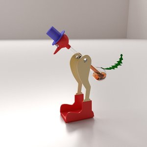 3ds drinking bird