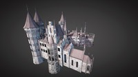 Low Poly Medieval Castle