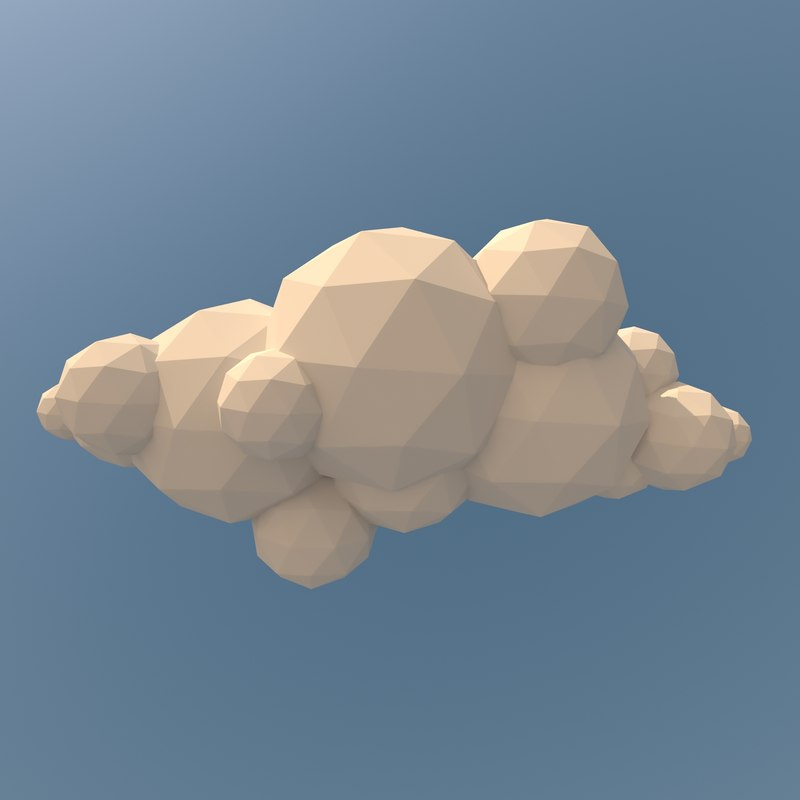 clouds pack landscape 3d ma