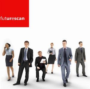 3d human businesses people model
