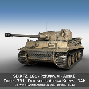 sd panzerkampfwagen vi - 3d model