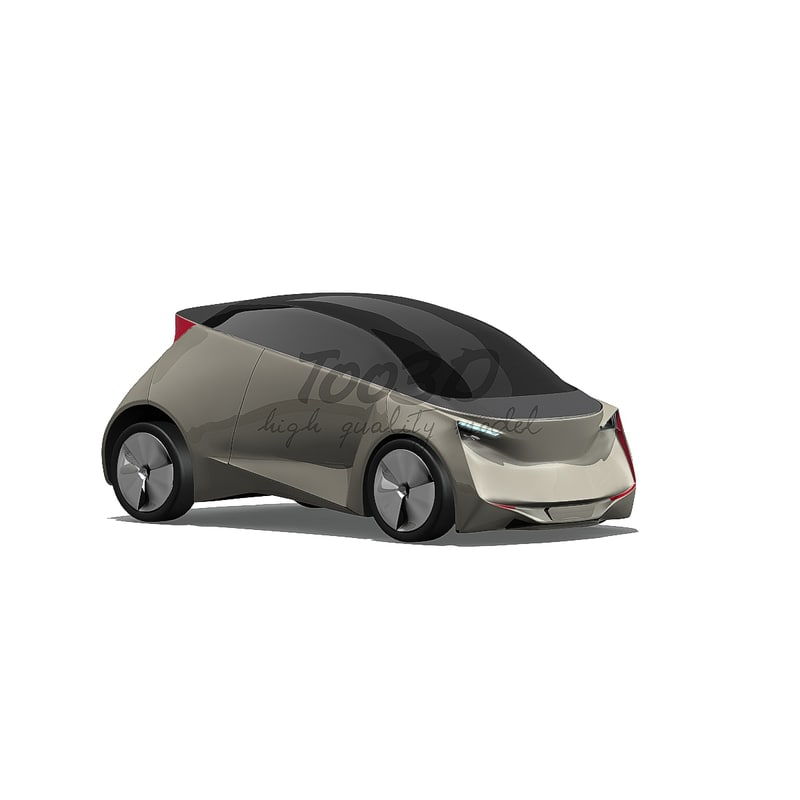 3d model ev car concept