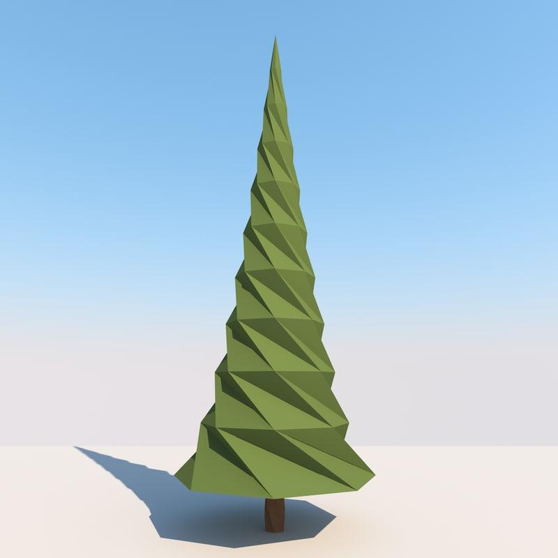 spruce landscape obj