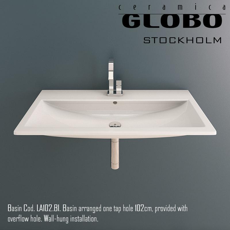 3d globo stockholm basin model