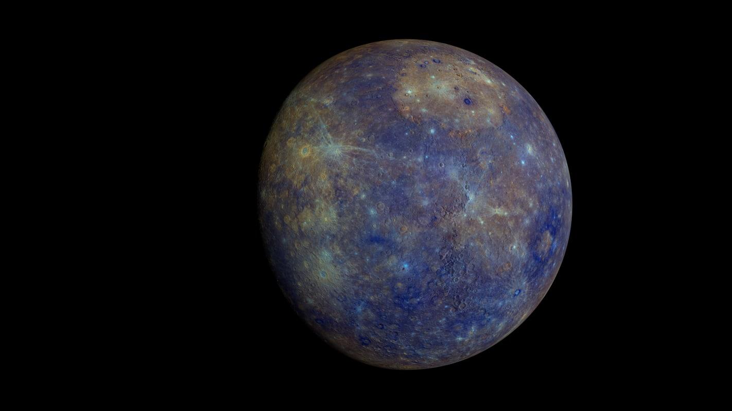 3d realistic mercury