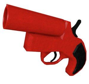 3d model flare gun