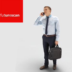 3d man businessman model