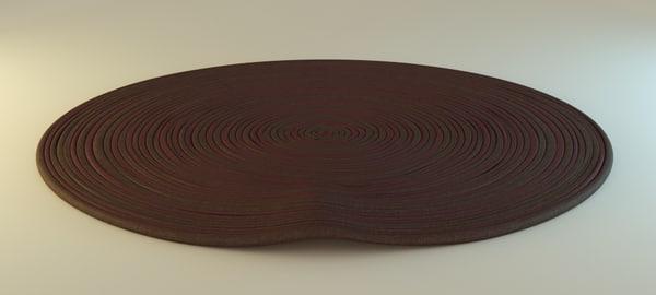3d blender carpet 9 materials model
