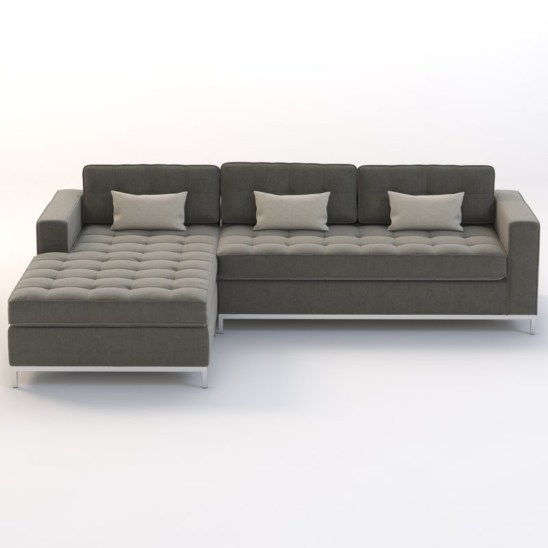 Gus Modern Jane Bi-Sectional Chaise  sc 1 st  TurboSquid : gus jane sectional - Sectionals, Sofas & Couches