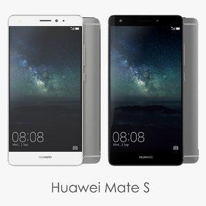 3d huawei mate s smartphone model