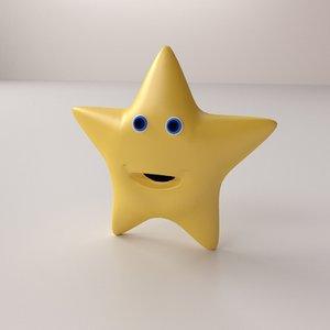 3d twinkle star