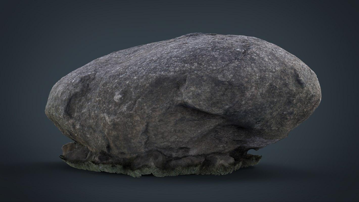 3d model rock 8k