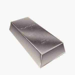 ingot platinum 3d max