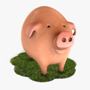 3d max cartoon pig