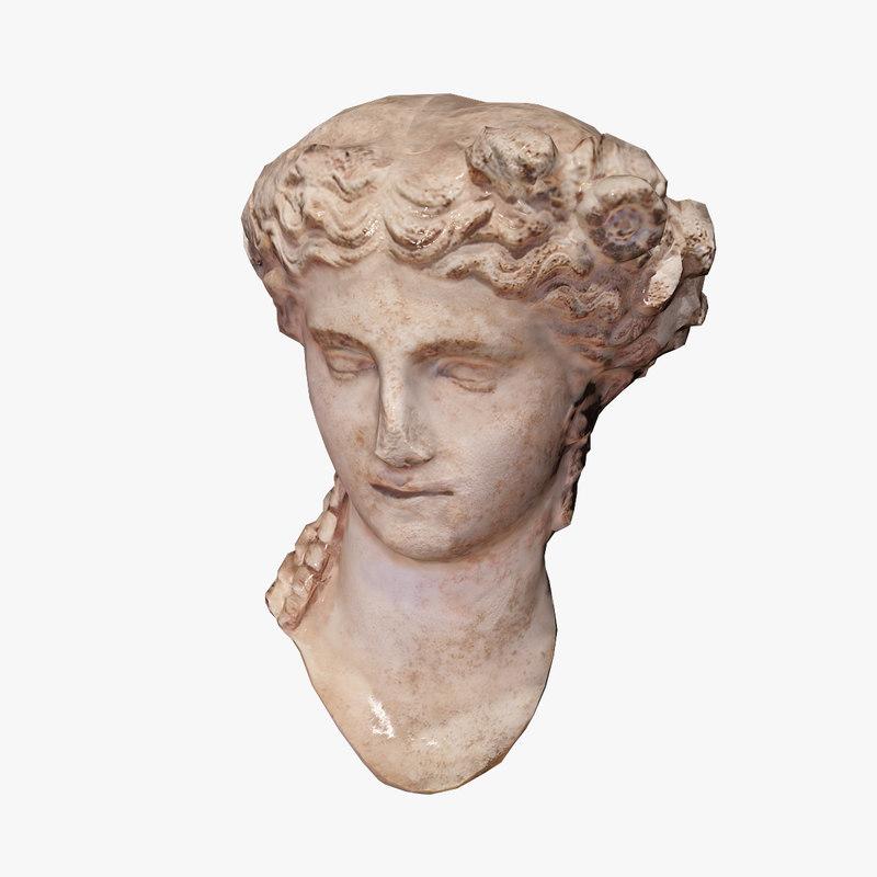 ancient bust 3d max