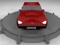 3d model red car