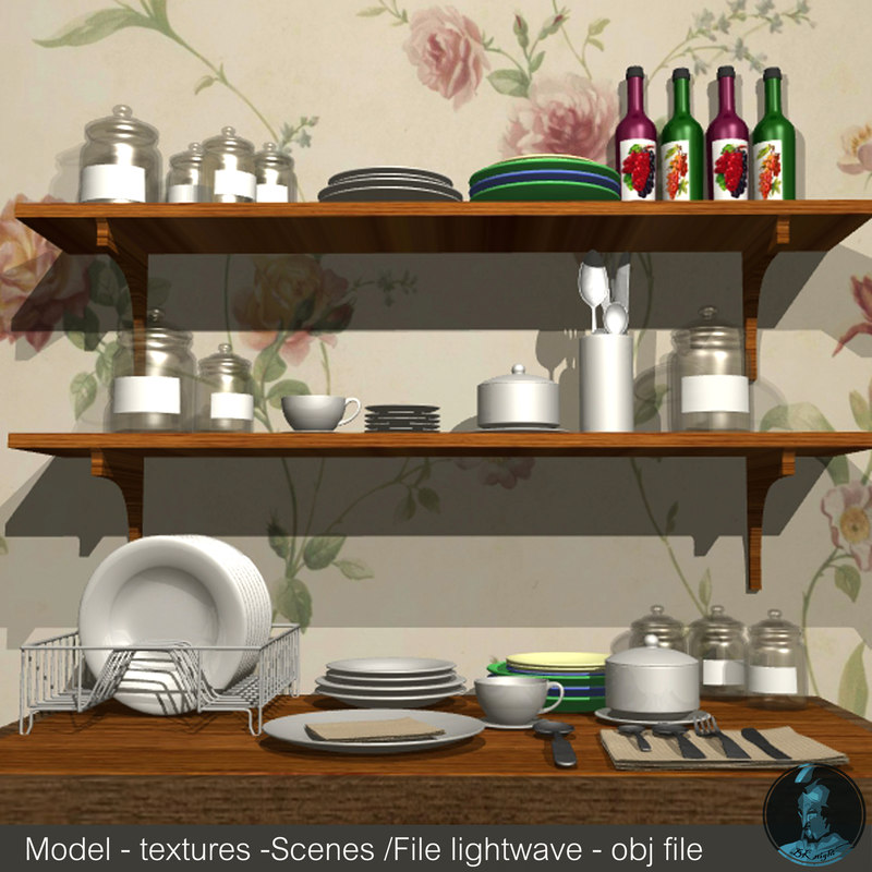 3d model kitchenware cookware bottle