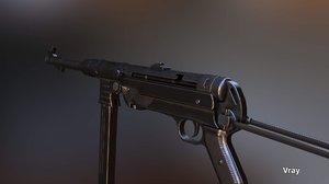 3d model mp40 german ww2