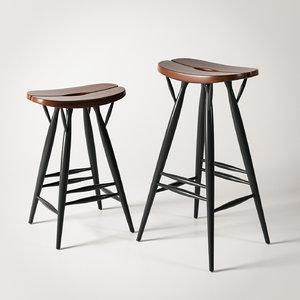 3d max artek pirkka bar stool