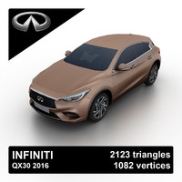2016 infiniti qx30 3d max