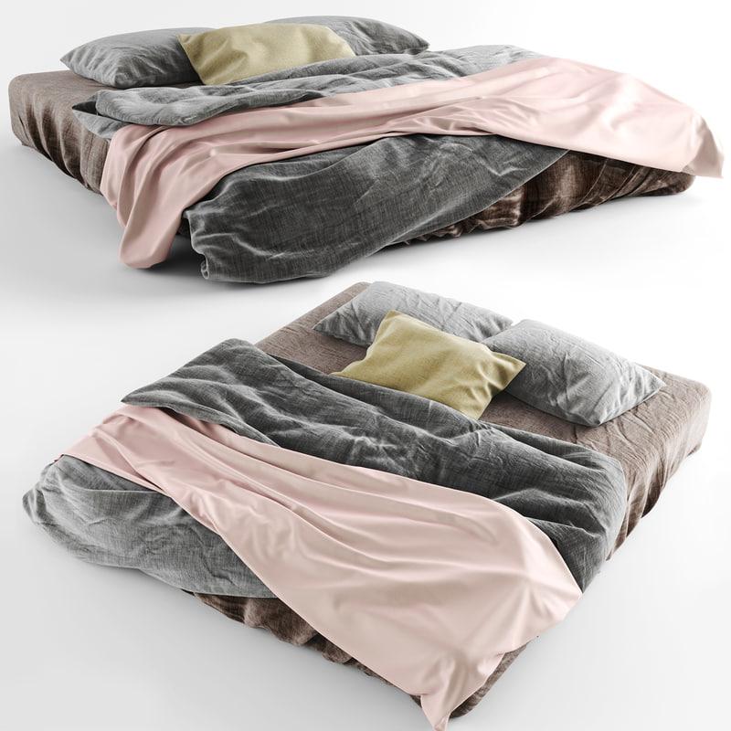 bedclothes gray 3d model