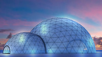 3d model event tent dome
