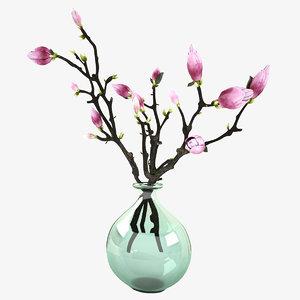 3d model of magnolia vase