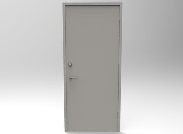 steel door - 1 obj