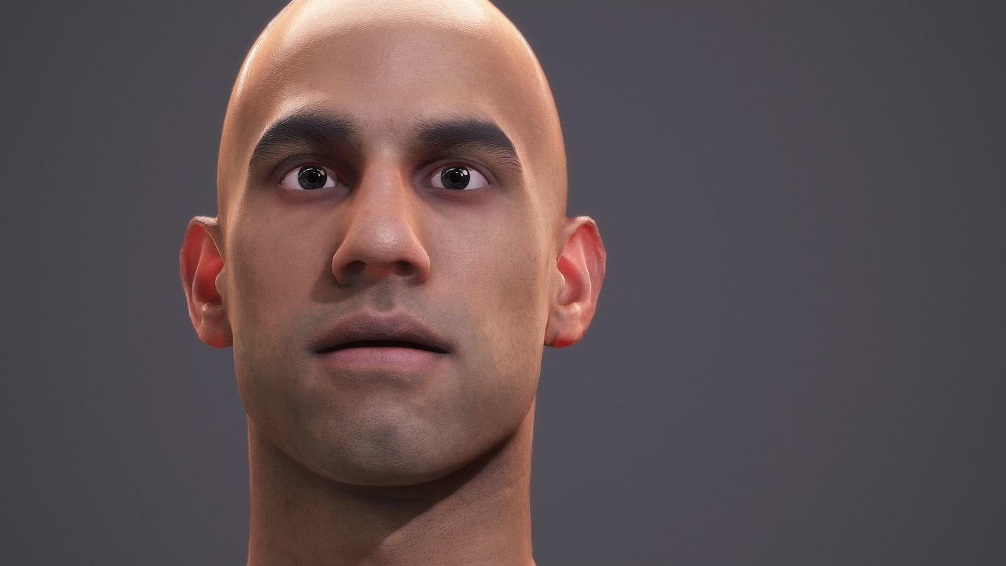 3d character human - scans model