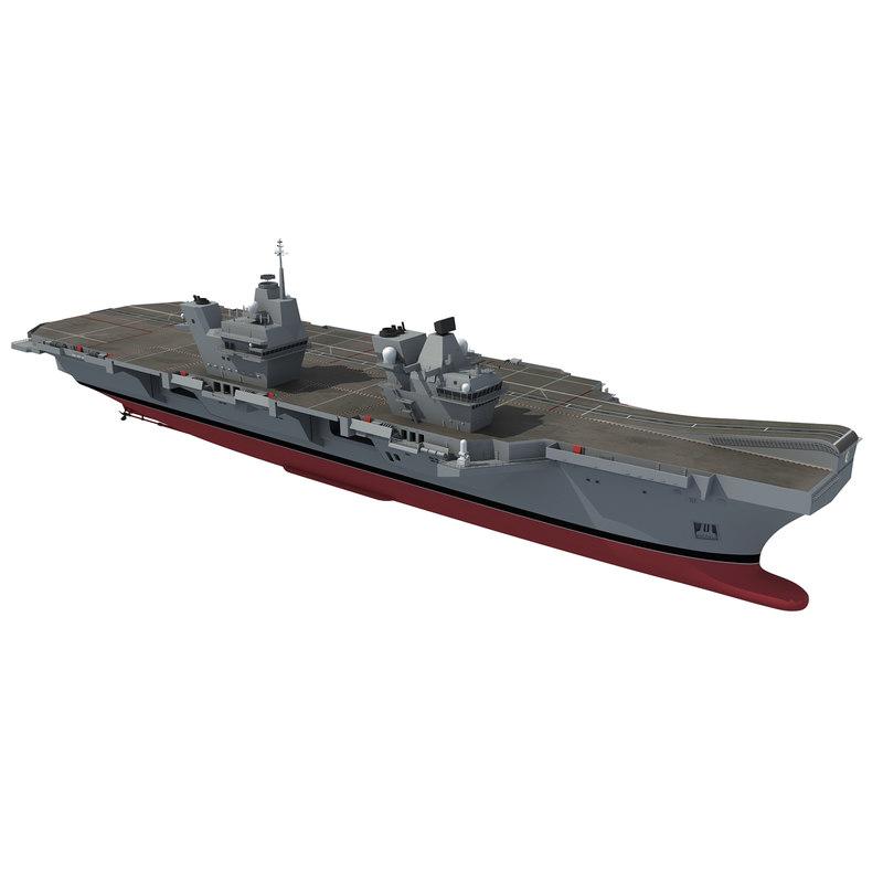 3d hms queen elizabeth aircraft carrier