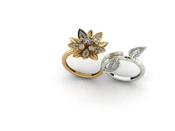 ring 2 flower 3d 3dm