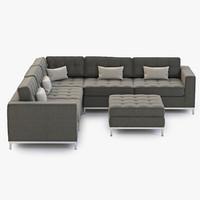 3d model sofa modern jane
